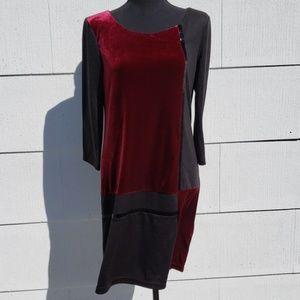 Jessica elegant dress with velvet elements